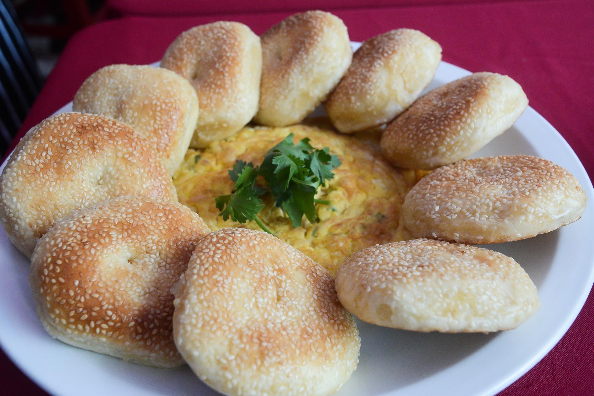 馬祖經典美食-繼光餅夾蛋