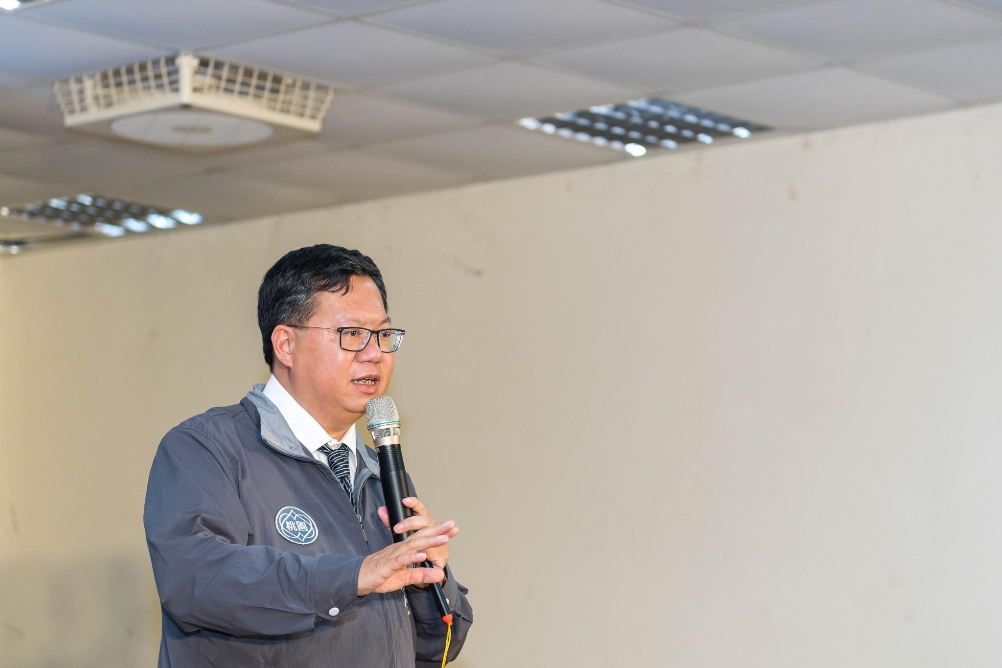 鄭市長致詞,改善交通、提升公設,讓坪頂地區更方便