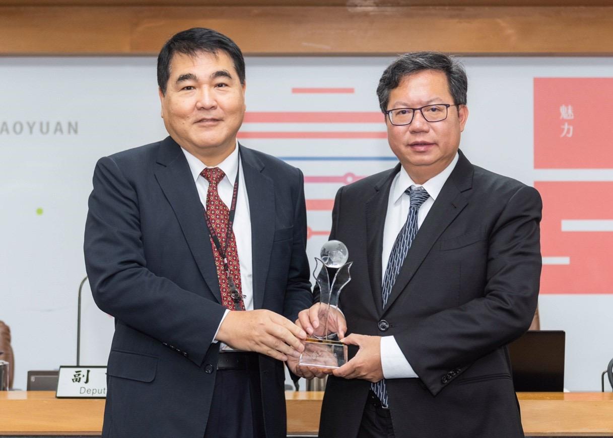鄭市長與水務局長劉振宇