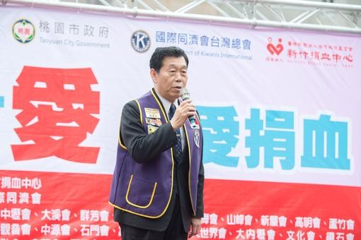 國際同濟會台灣總會總會長楊建功說明活動緣由【另開新視窗】