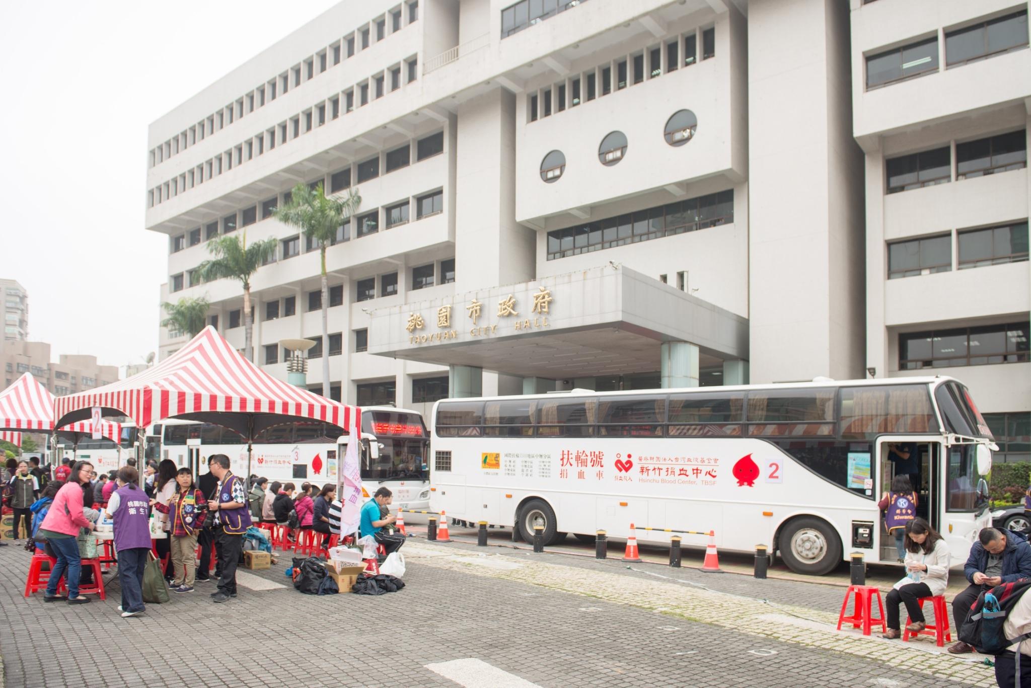 「捐血有愛‧我愛捐血」捐血公益活動出動4部捐血車
