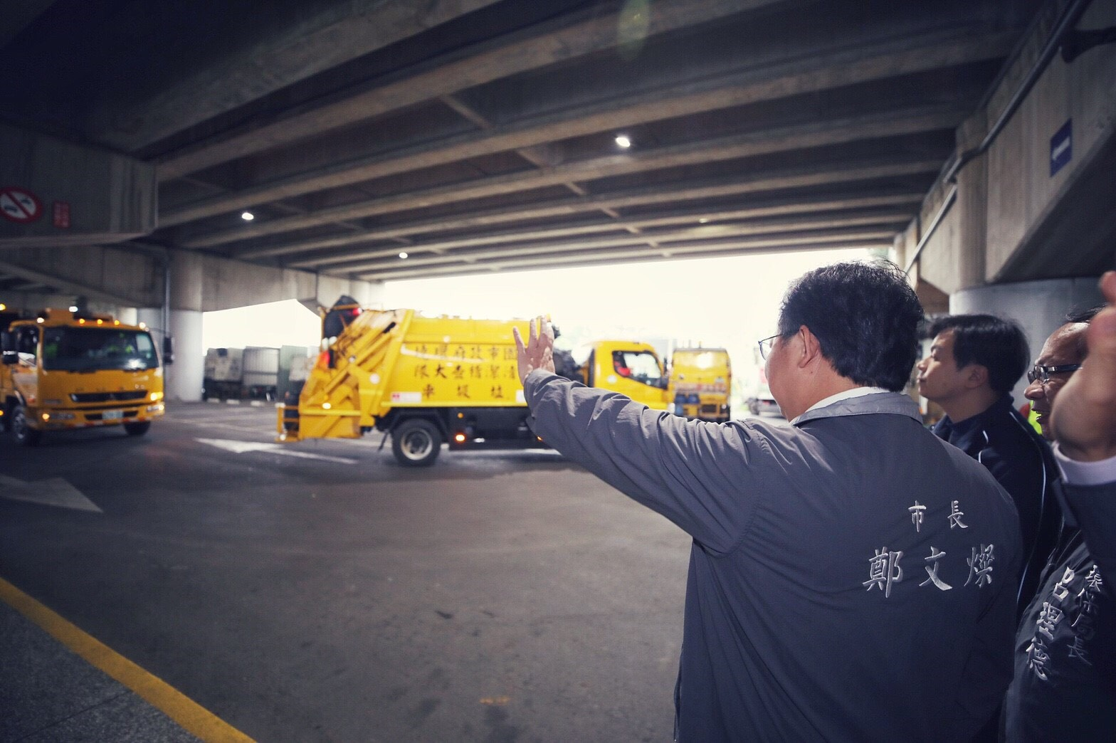 鄭市長表示,感謝清潔隊員維護市容環境,即日起展開垃圾清運作業