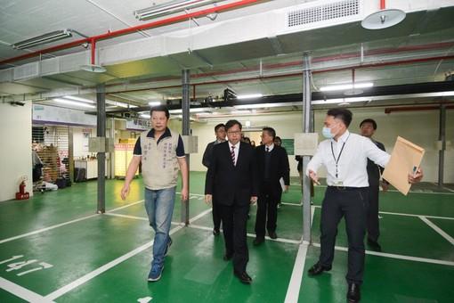 市長視察新明市場2樓閒置空間【另開新視窗】