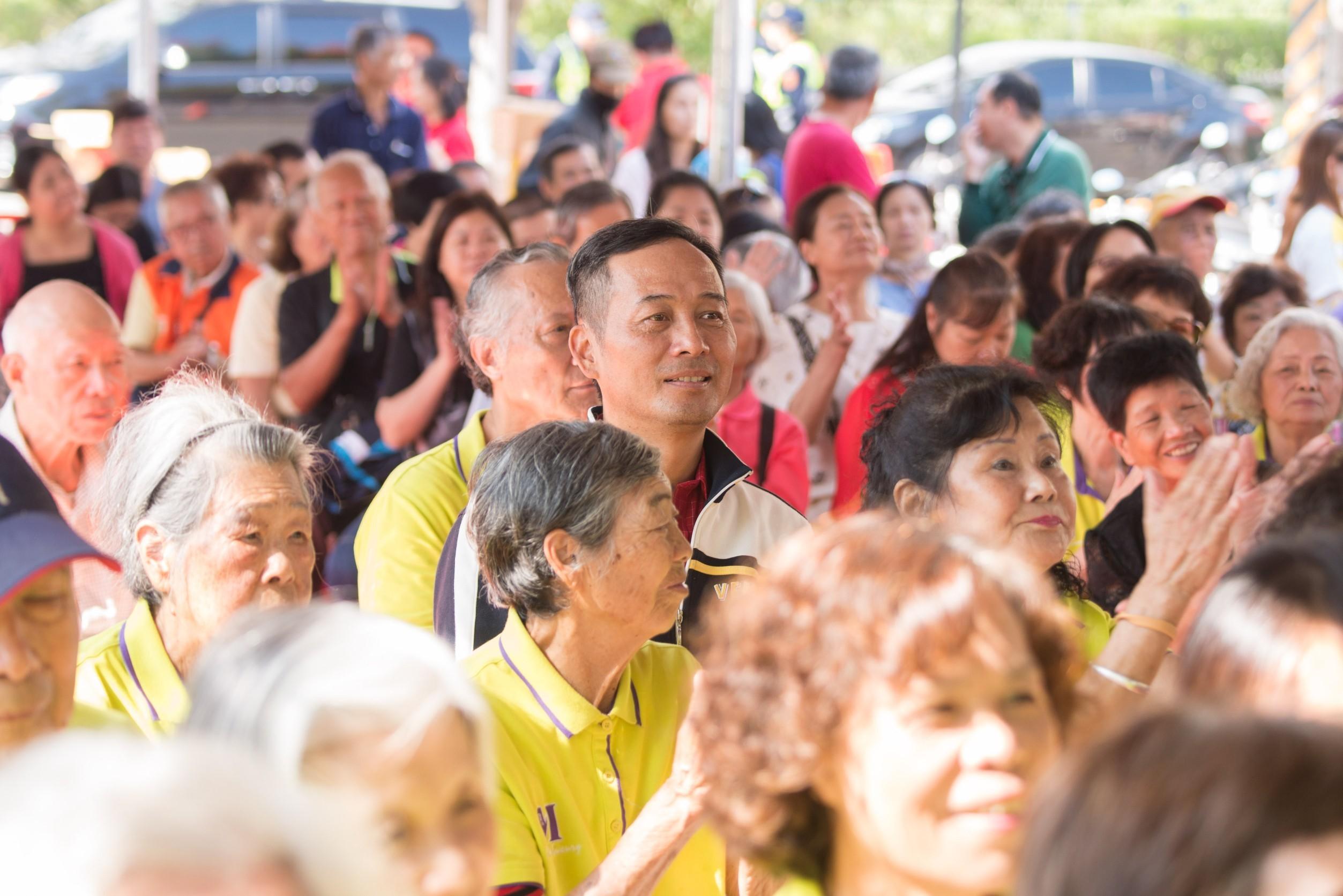 民眾參與大溪區月眉防汛道路拓寬工程開工典禮