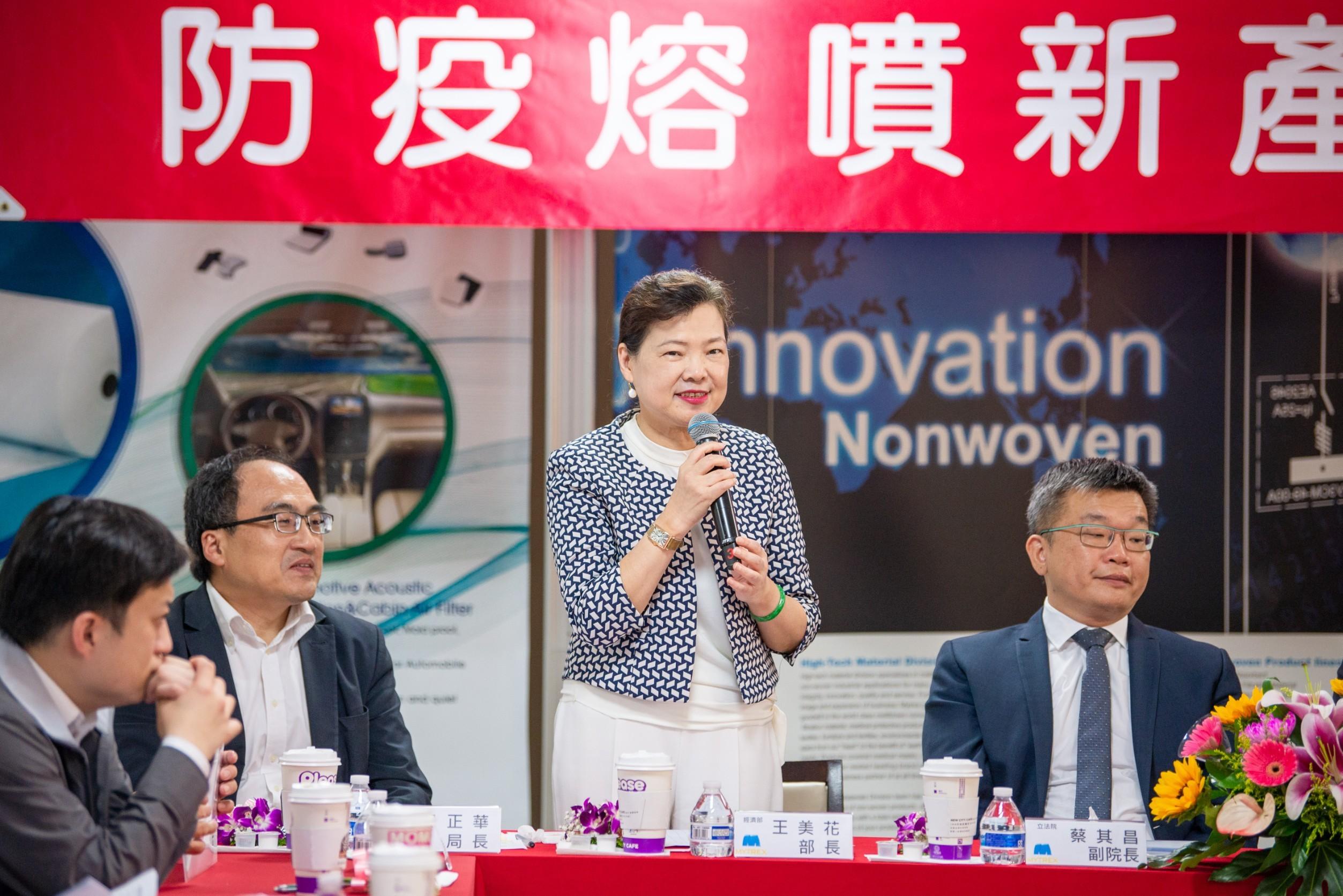 王部長表示,政府將全力協助防疫物資產業鏈穩定發展