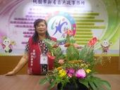 志工隊姜隊長104年6月提供本所綠美化插花作品