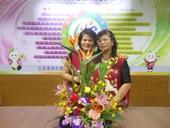 志工隊姜隊長104年8月提供本所綠美化插花作品
