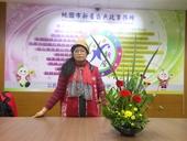 志工隊姜隊長105年3月提供本所綠美化插花作品