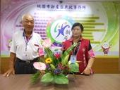 志工隊姜隊長105年7月提供本所綠美化插花作品