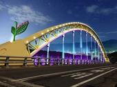市長蒞臨本區視察校前路大橋光雕計畫辦理進度