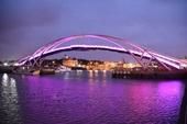 永安觀海橋點燈夜景成為打卡景點