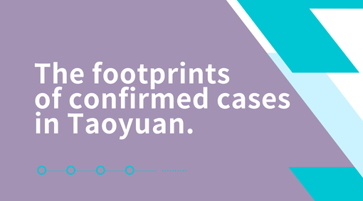 Footprints of Confirmed COVID-19 Cases in Taoyuan on July 22