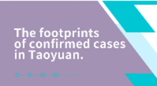 Footprints of Confirmed COVID-19 Cases in Taoyuan on July 25