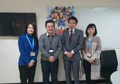 Examiner of Commerce and Tourism Labor Department of Miyazaki Prefecture visited Director Yan of the Secretariat.