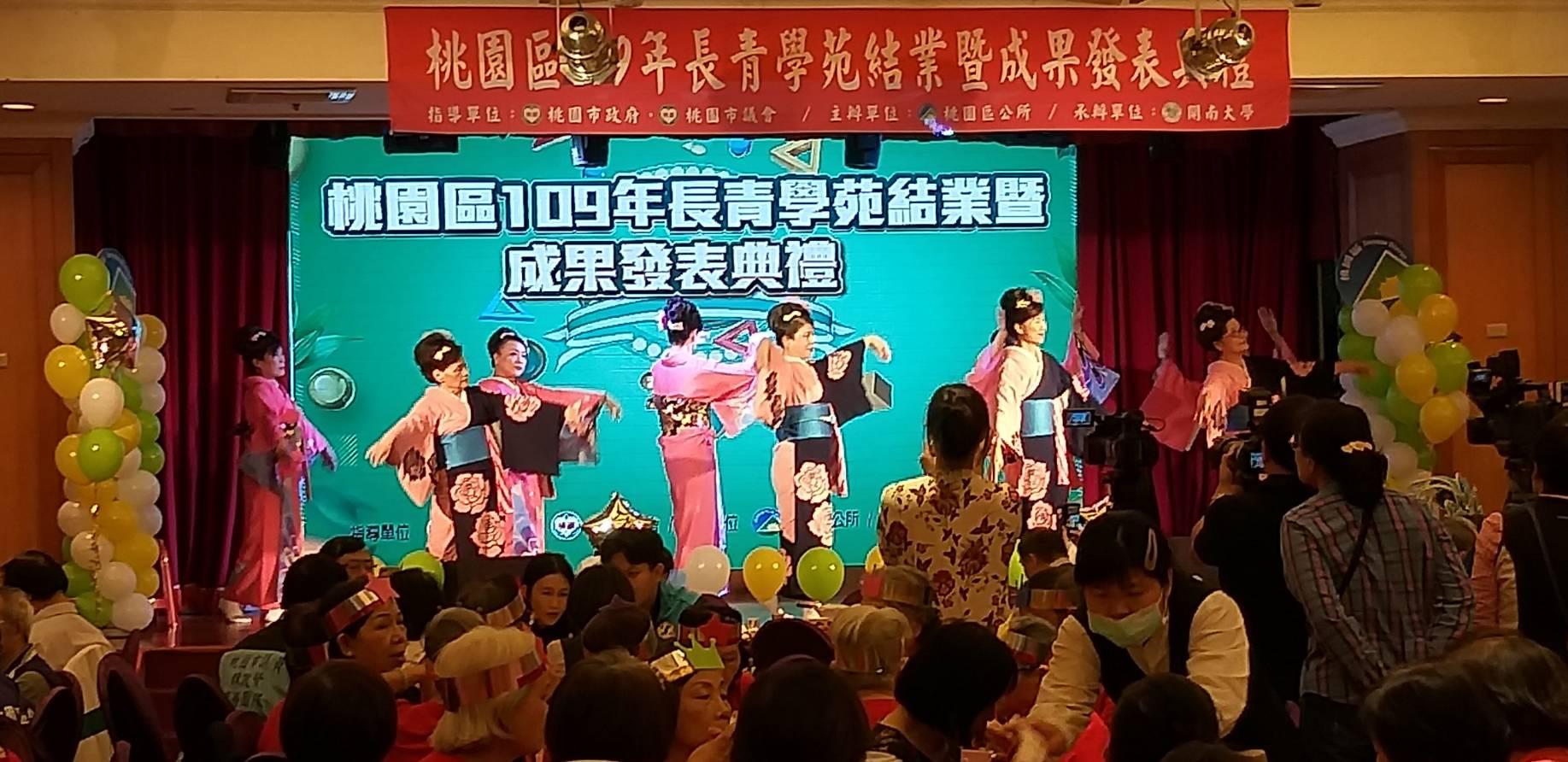 學員表演日本舞踊,讓觀眾眼睛為之一亮。
