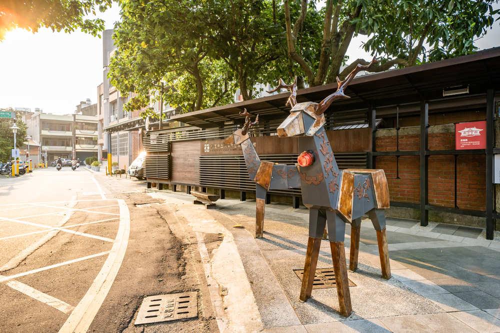 四連棟木藝再生雕塑