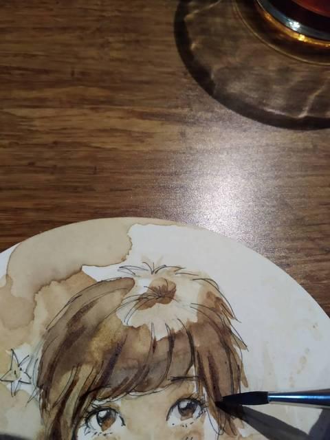 咖啡畫特寫