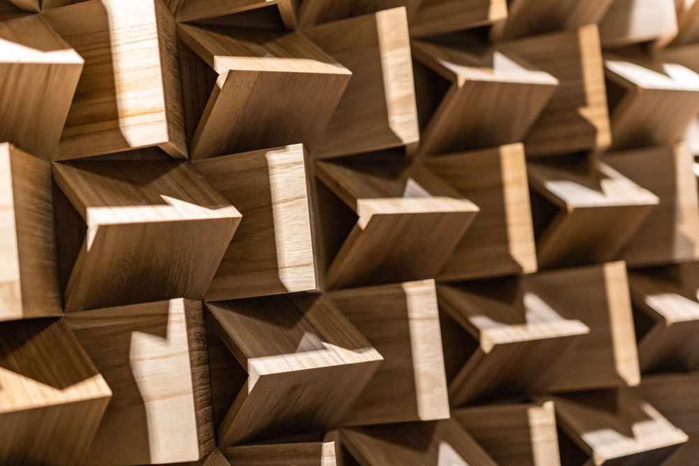 大溪琴桌創作展 造型特殊的吸音裝置