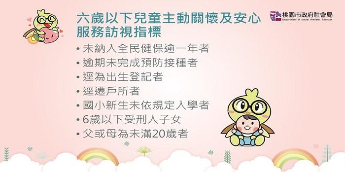六歲以下兒童主動關懷及安心服務訪視
