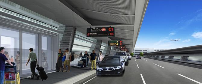 桃園航空城先期建設-桃園國際機場第一航廈改善工程。