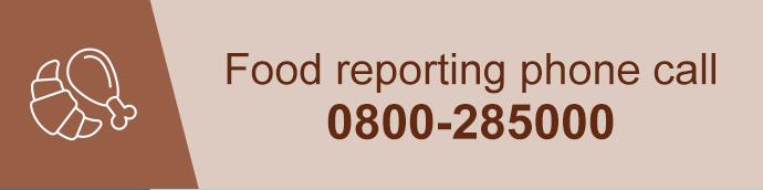 Food reporting phone call