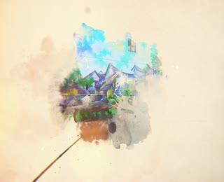 蘆竹彩繪村-記憶坑口航向未來